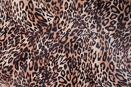Impression sur cuir motif léopard