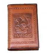 Couverture de livre en cuir frappé