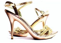 Chaussures en cuir métallisé