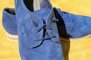 nubuck chaussure bleue